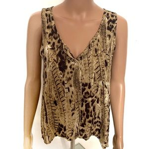 Mine Animal Print Tank Top Blouse